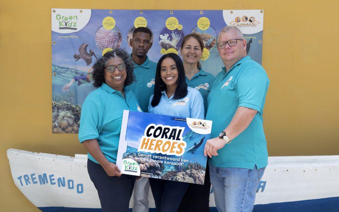 Coral Heroes lespakket vooralle scholen op Curaçao